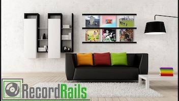 Vinyl Record Displays (Record Rails)