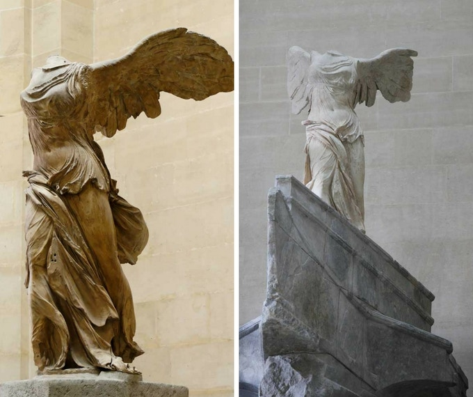 Nike of Samothrace | Before & after