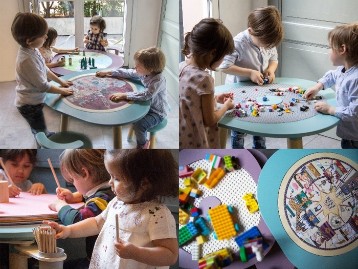 MUtable conveniently transforms from a beautifully-designed table into an all-in-one play table for children ages 1 through 8!