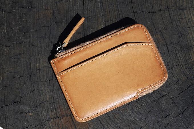 Brown natural leather X-Pocket wallet
