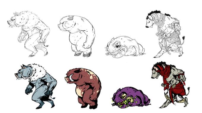 Character Design Kickstarter : Savage road to darkness by artcle studio —kickstarter