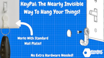 KeyPal: Minimalist Wall Plate Hanger For Everyday Items
