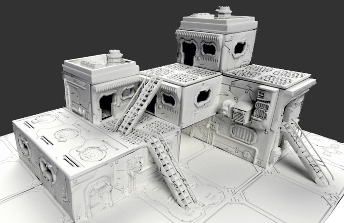 Possible layout built with the Acheron pledge components