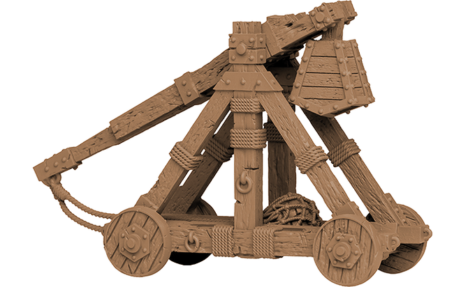 The powerful Trebuchet makes for an amazing miniature.