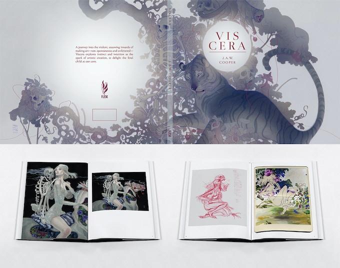 Viscera book design in progress.
