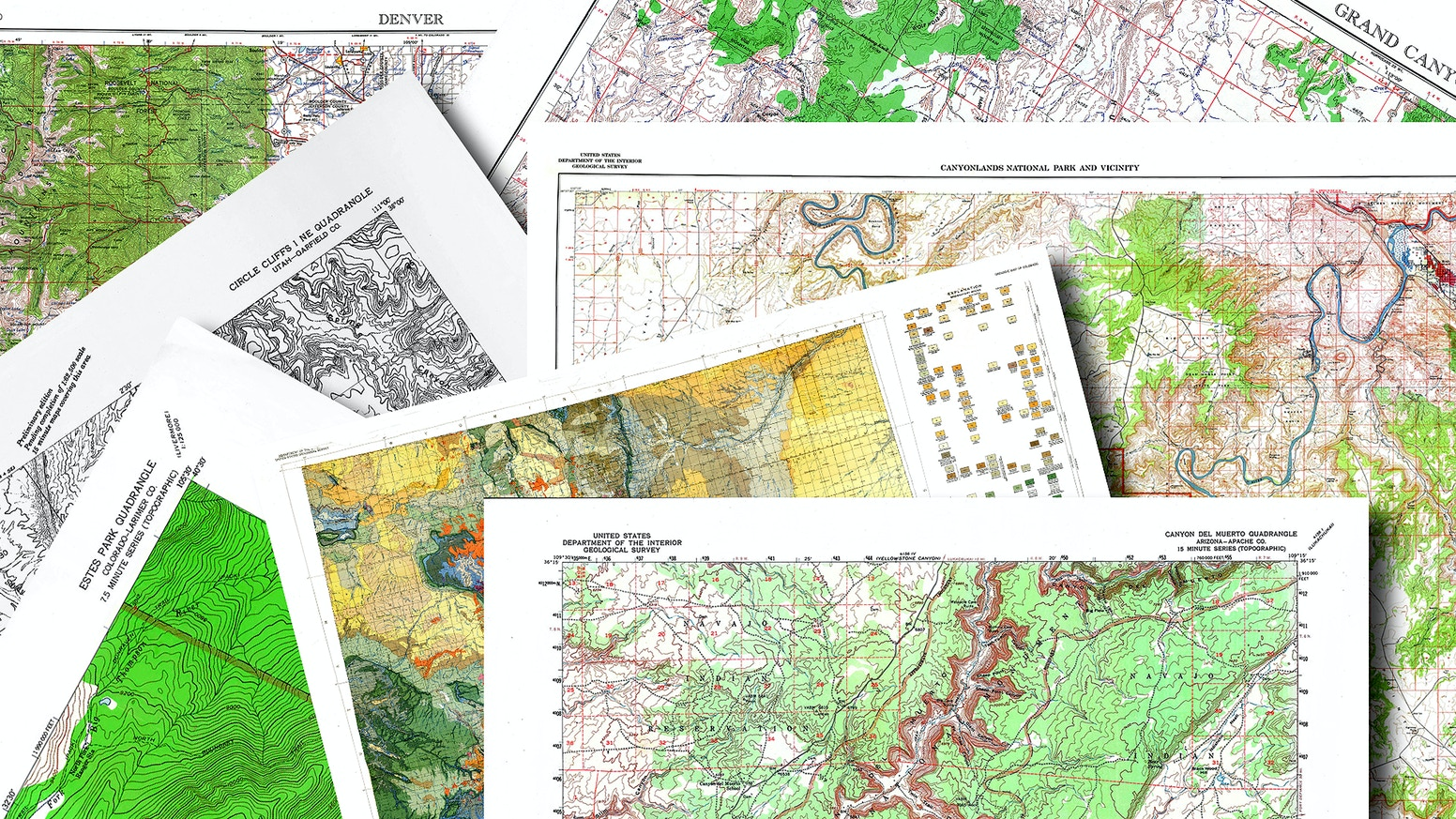 700 Restored Quadrangle and Special Maps, Colorado and Utah by Craig ...