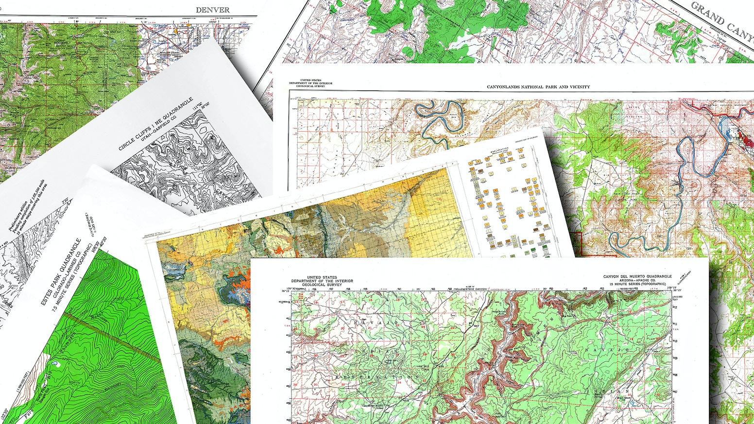 700 Restored Quadrangle and Special Maps, Colorado and Utah by Craig ...