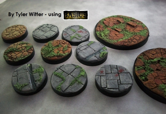 Tyler, from the online community, kindly sent us this photo.  These base textures are made using just BASIUS, 'Green-Stuff' and paint - thats it.