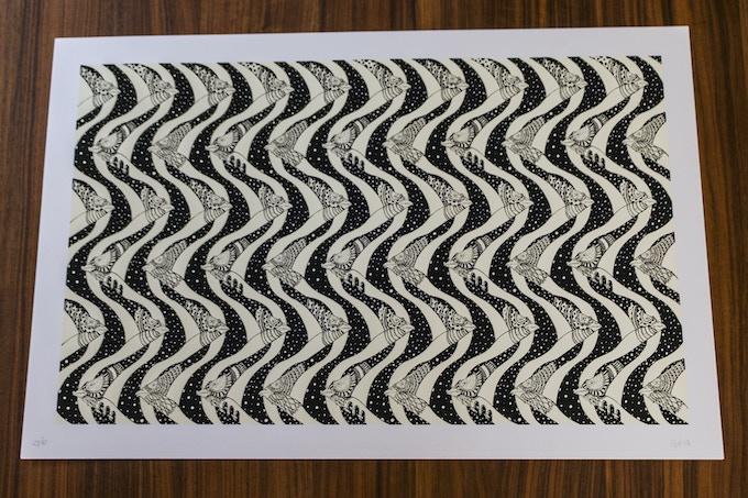 "Lesuperdemon ""Microscópico-macroscópico"" Serigrafía, 40cm x 60cm."