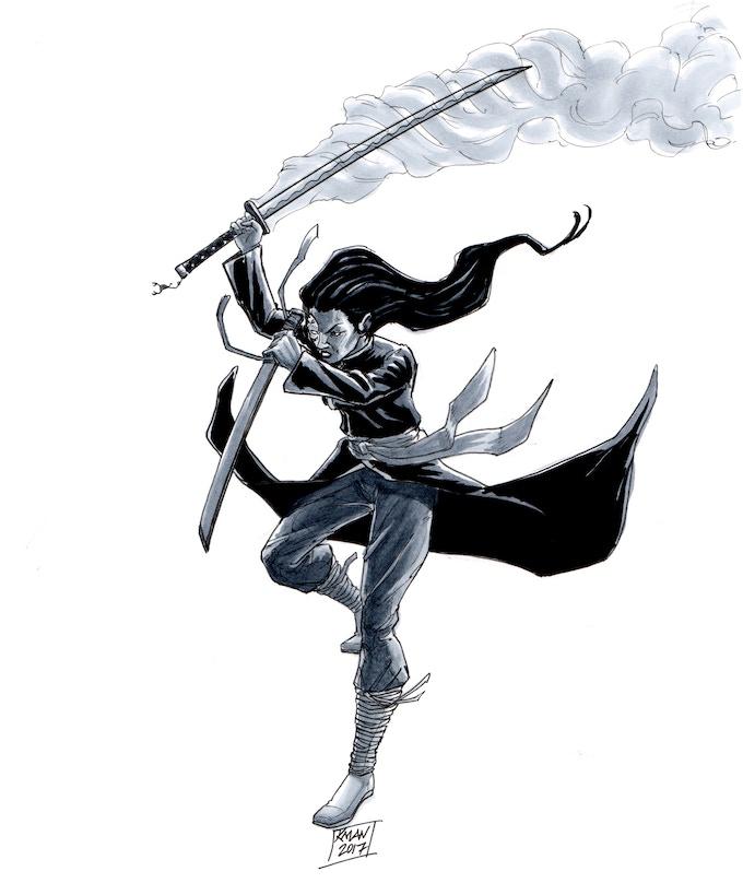 Black Scorpion. Artwork by Kieron O'Gorman, lead artist for High Plains Samurai.
