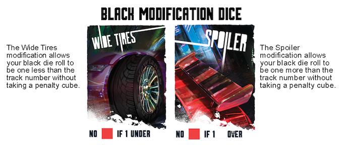 Black Modification Dice cards