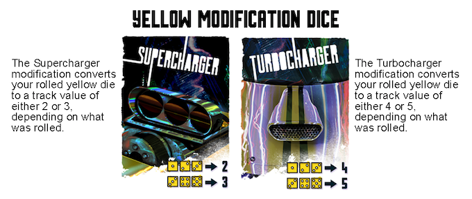 Yellow Modification Dice cards