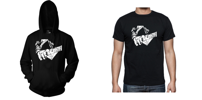 Hoodie and T-Shirt - Design 1