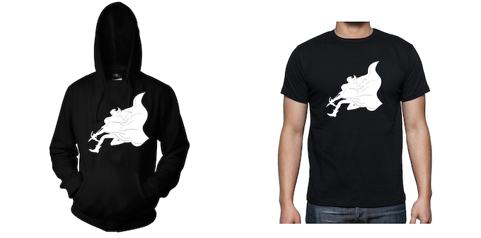 Hoodie and T-Shirt - Design 2