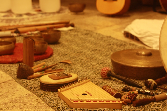 Instruments used during Sound Healing