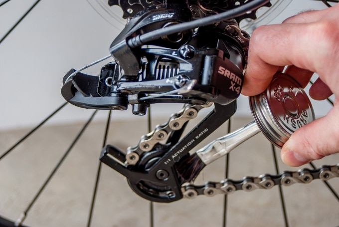 Easily lube your rear derailleur!