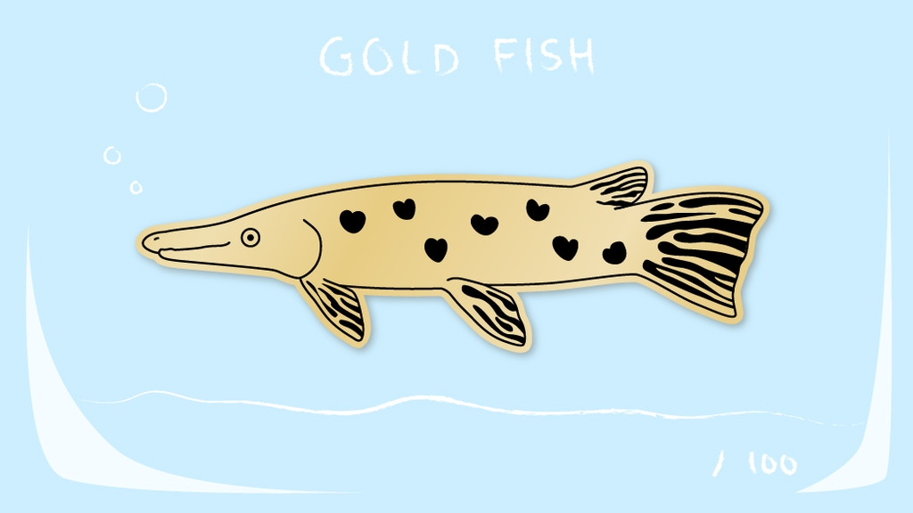 Project image for Gold Fish Pet Pin!