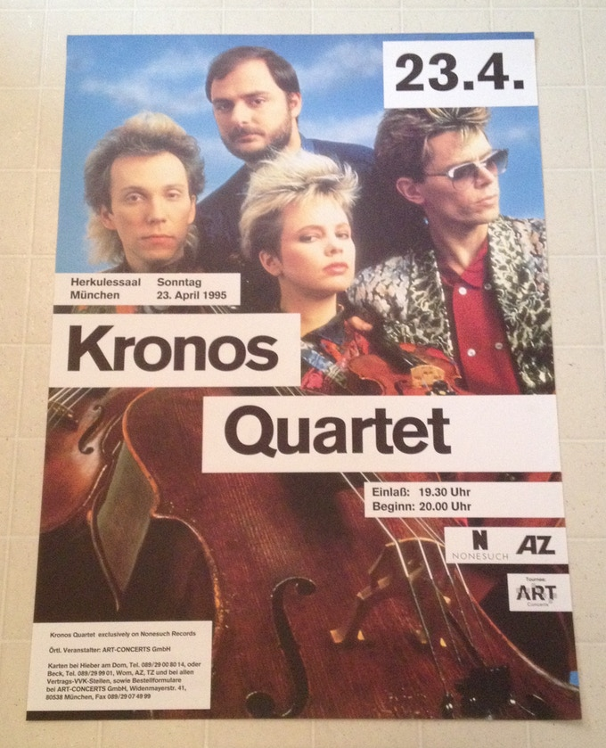 One of the many great vintage posters in the Kronos Quartet archive
