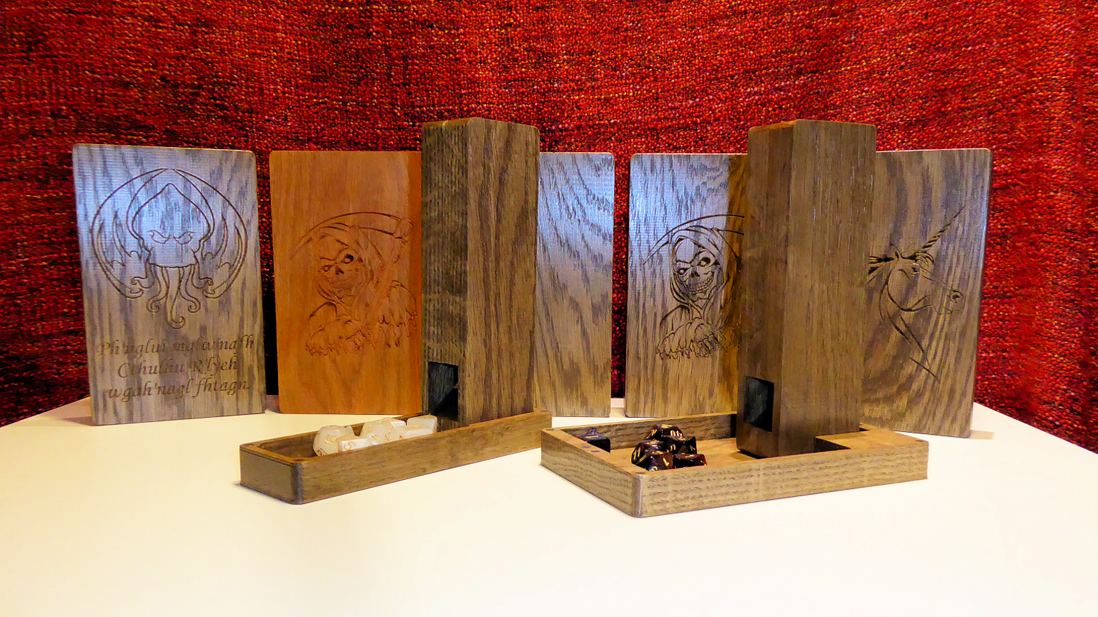 An *affordable* hardwood dice tower / tray / box solution for your gaming needs - D&D/Pathfinder/RPG or boardgame!
