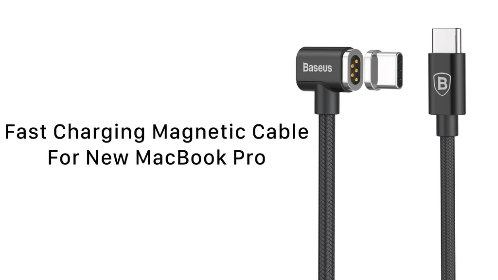 Baseus: World's Fastest Magnetic USB-C Cable For MacBook Pro project video thumbnail