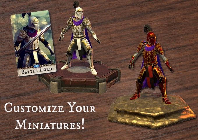 Customize your miniatures with paintjobs, unit bases, and even custom arms and armors