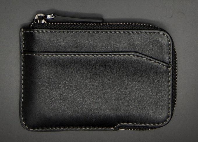 Black full-grain leather X-Pocket wallet