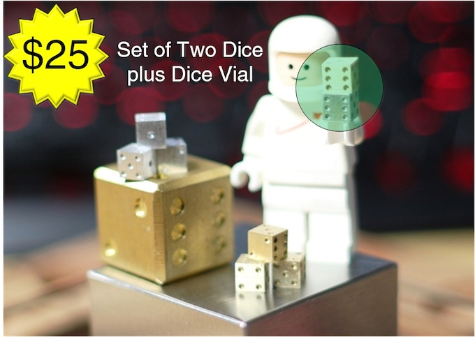 Two dice and a storage vial for $15. Sweet!