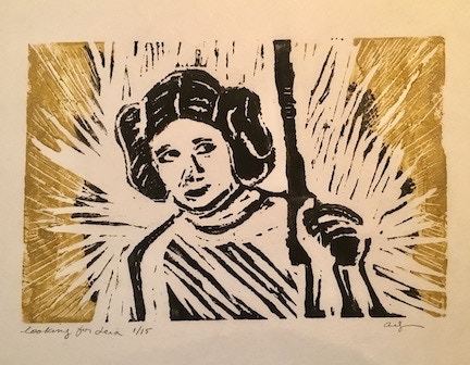 Looking for Leia limited edition hand print lino cut