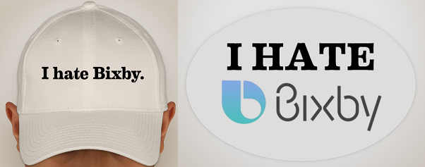 I Hate Bixby hat and sticker