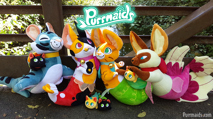 These Purrfect and Magical Sea Creatures are Ready for Adoption! Bring a Mythical Purrmaid Plushie Toy into Your Home Today!