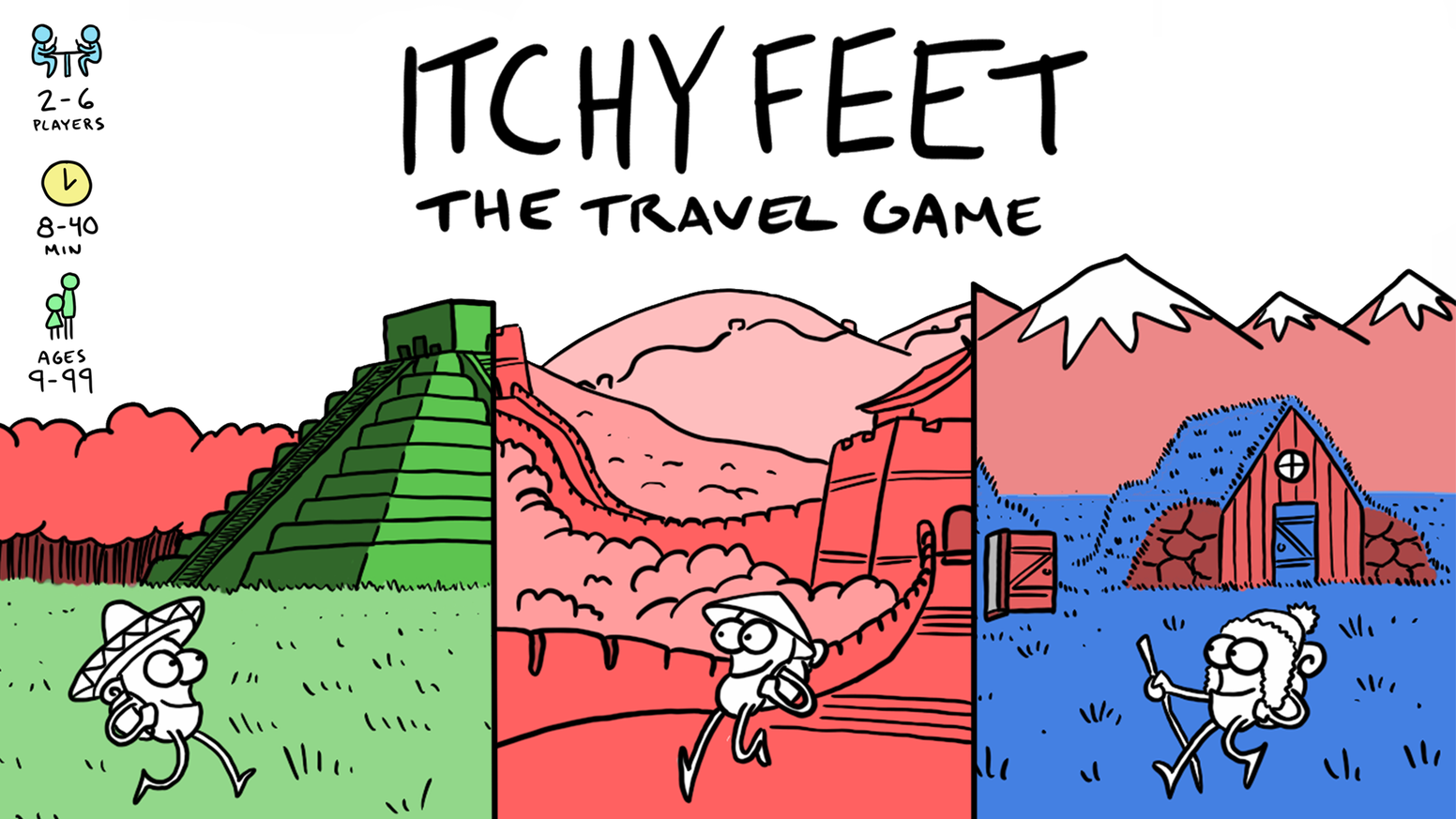 The simple, humorous and social travel-themed card game that is also a card game made for travelers!
