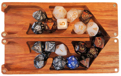 Three full sets of 7 poly dice ... plus an accidental d20