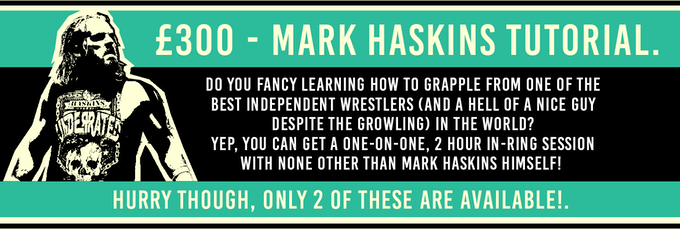 A Kickstarter exclusive: Wrestling Tutorial with Mark Haskins. Click 'Steel Cage Match: Rematch' on the right - £300