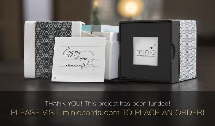 Connect with the people in your life by collecting mini moments, thoughts, advice, and wishes in this customizable 3x3 card and box set
