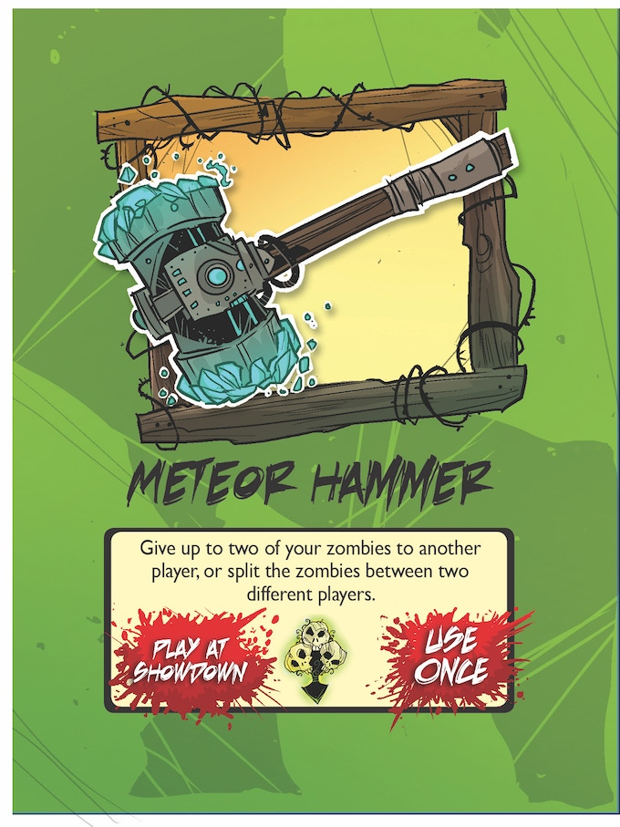 item card, meteor hammer