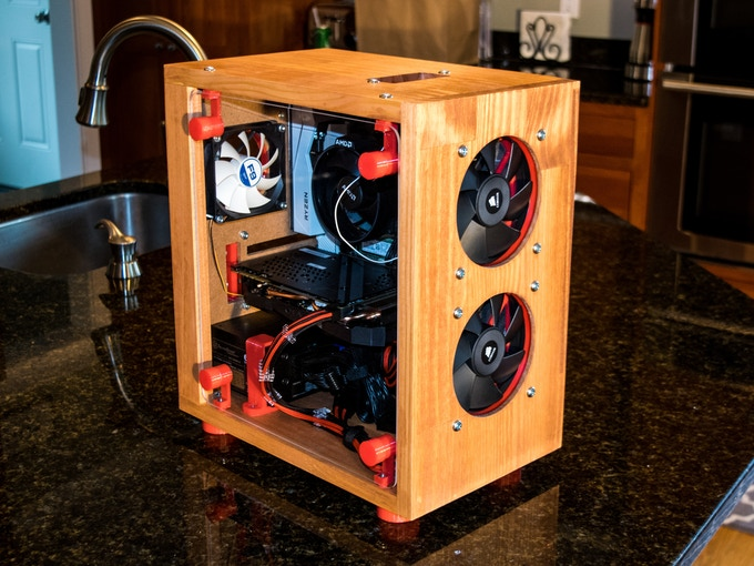 A completed mATX Timber Case