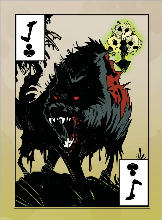 poker cards, the Maii, meteor-wolves