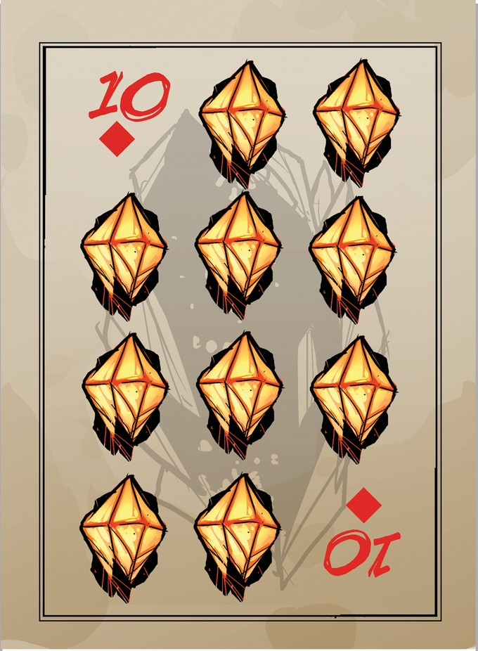 poker cards, 10 diamonds