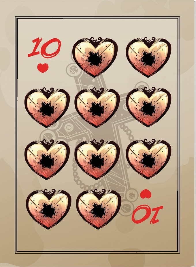 poker cards, 10 hearts