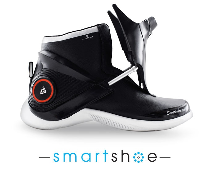 ce03bd08446d8 Reinventing traditional footwear with connected sneakers that integrate  wearable technology.