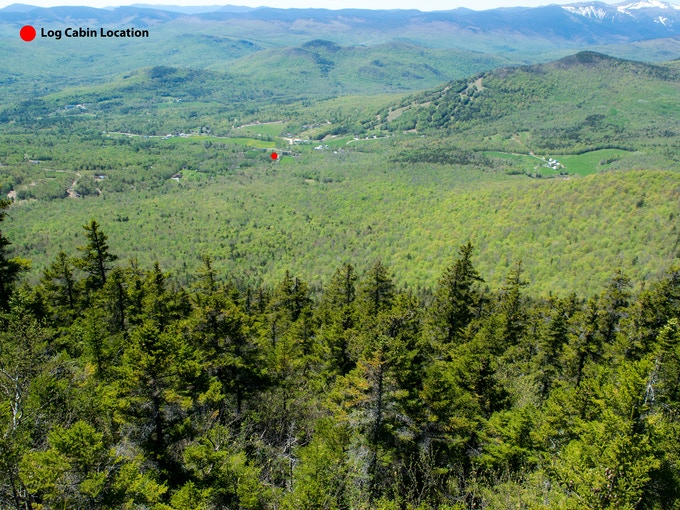 Log Cabin Location (White Mountains - New Hampshire)