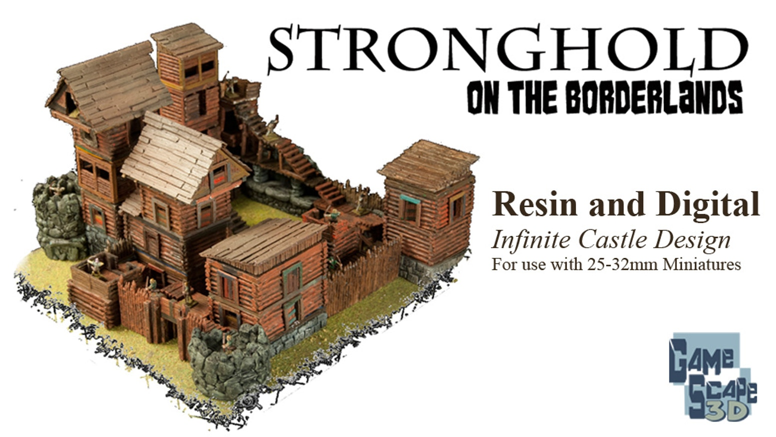 Infinite castle modular design system. +200 digital pieces for 3D Printing AND a resin borderland fort perfect for 25-32mm miniatures!