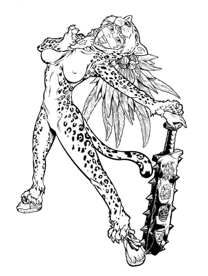 Female Jaguar Warrior - $8