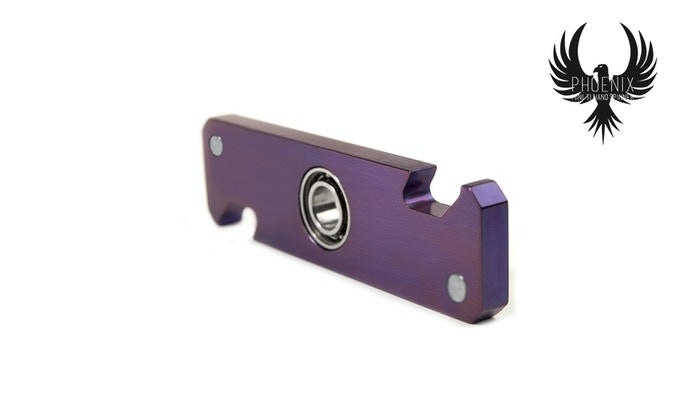 Phoenix Ti Spinner Anodized Nebula Purple