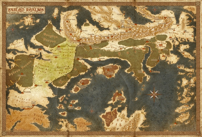 Map Of The Fabled Realms By Jared Blando
