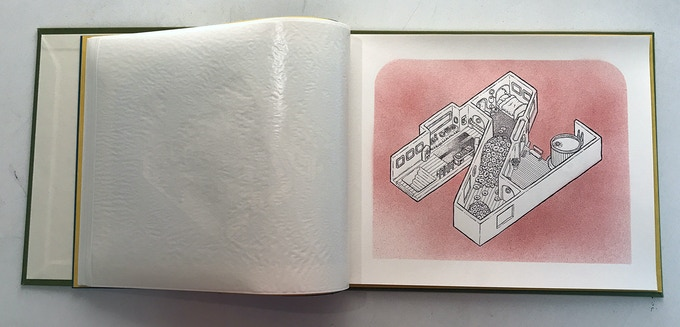 Alphabet City Letterpress Book - only 4 of 26 available. Hand-bound, Hand-printed and hand-colored by x-ing books.