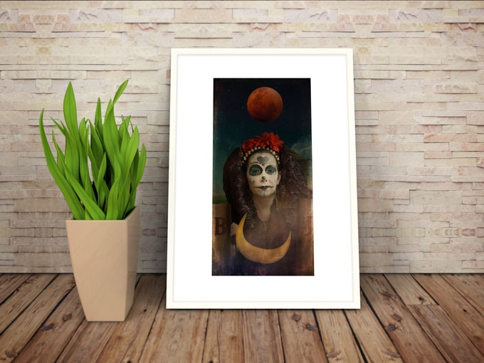 """The High Priestess, fine art photograph, 13"""" x 19"""", unsigned, printed on museum quality metallic pearl paper (frame NOT included)."""