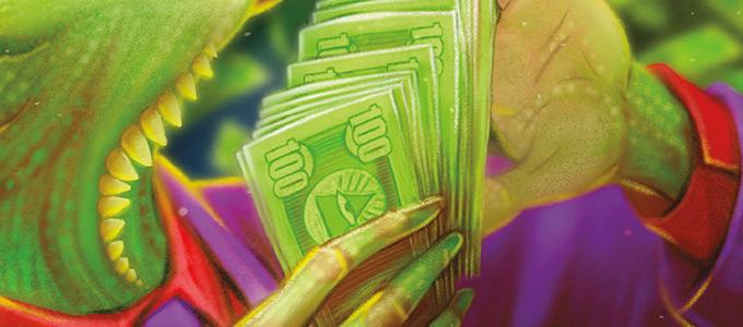 Fat stacks of greenbacks!
