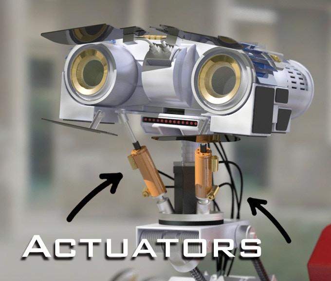 Johnny Five has a lot of actuators.