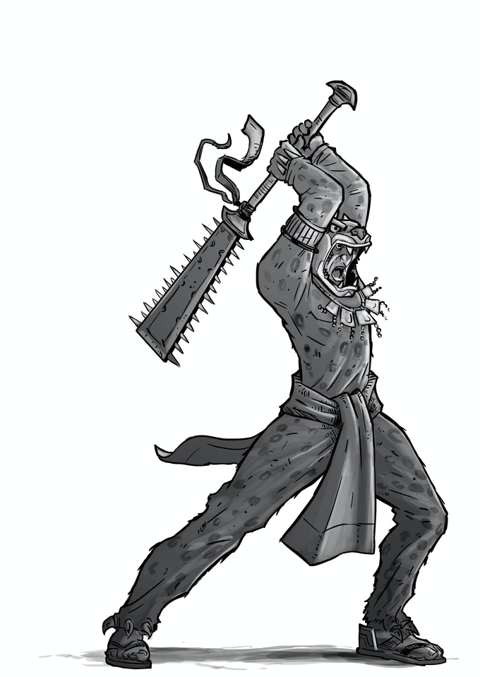 Jaguar Warrior w/ Great Weapon